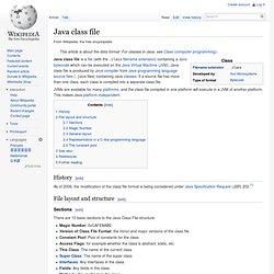 Java class file