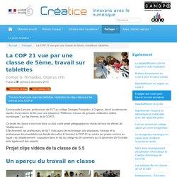 La COP 21 vue par une classe de 5ème, travail sur tablettes