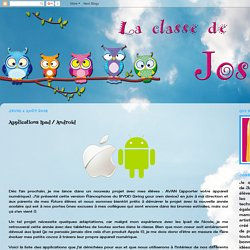La classe de Josée: Applications Ipad / Android