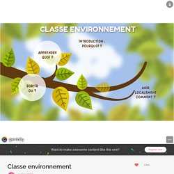 Classe environnement by cb.bel on Genial.ly