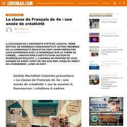 La classe de Français de 4e : une année de créativité