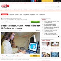 L'actu en classe. Ouest-France fait entrer l'info dans les classes