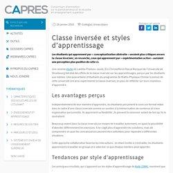 Classe inversée et styles d'apprentissage