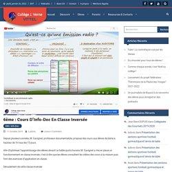 6ème : cours d'Info-Doc en classe inversée – Collège Jules Verne de Vittel (Vosges)