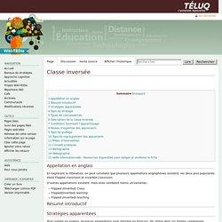 Classe inversée — Wiki-TEDia