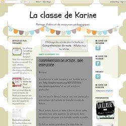 La classe de Karine: Compréhension de texte