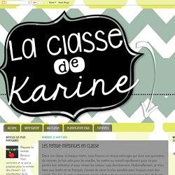 La classe de Karine: Les remue-méninges en classe