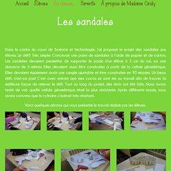 La classe de Madame Cindy - Les sandales