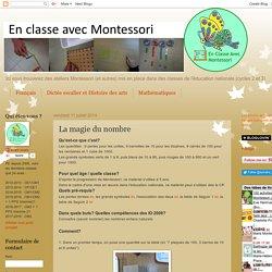 En classe avec Montessori: La magie du nombre