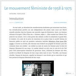 Non classé – Le mouvement féministe de 1958 à 1975