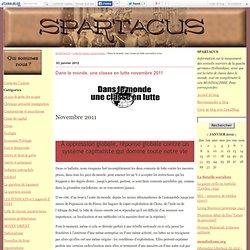Dans le monde, une classe en lutte novembre 2011 - SPARTACUS