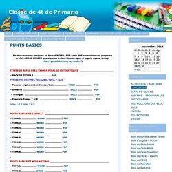 Classe de 4t de Primària » PUNTS BÀSICS