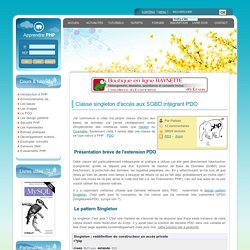 Classe singleton d'accès aux SGBD intégrant PDO