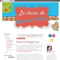 La classe de Madame Valérie: 5 au quotidien