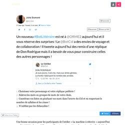 """Thread by @Jul_Dum: """"Un nouveau éraire est né à @ORME2 aujourd'hui et il vous réserve des surprises ! Le @BotCid a des envies de voyage et de collaborati […]"""" #BotLittéraire #ClasseContributive #CulturesRemix"""