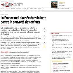 La France mal classée dans la lutte contre la pauvreté des enfants