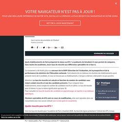 Le classement des BTS dans l'académie de Paris - Letudiant.fr - L'Etudiant