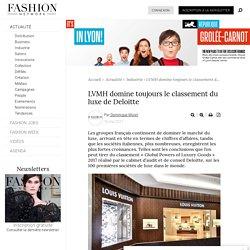 LVMH domine toujours le classement du luxe de Deloitte - Actualité : Industrie (#828045)