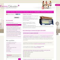 Classement papiers personnels- Comment classer ses papiers administratifs