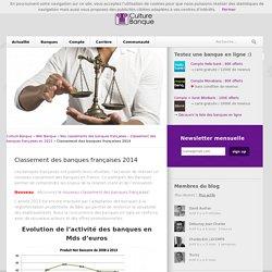 Le classement des banques françaises en 2014