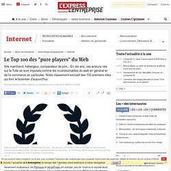 "Classement e-business : les 100 premiers ""pure players"" du Web en France"