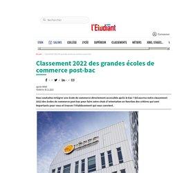 Classement 2021 des grandes écoles de commerce post-bac