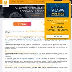 Classement Master Expertise Comptable (Comptabilité - Contrôle - Audit), top 10 2020 des masters Expertise Comptable (Comptabilité - Contrôle - Audit)
