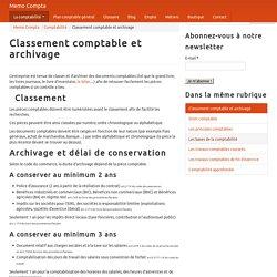 Classement comptable et archivage