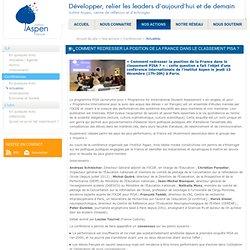 Comment redresser la position de la France dans le classement PISA ? - Actualités - Aspen France