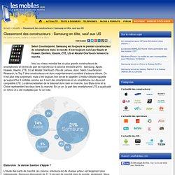Classement des constructeurs : Samsung en tête, sauf aux US
