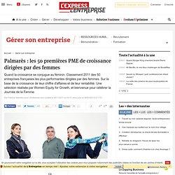 Classement : les 25 premières PME de croissance dirigées par des femmes en France
