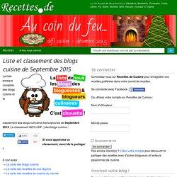 Liste et classement de tous les blogs cuisine francophones