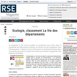 Ecologie, classement La Vie des départements