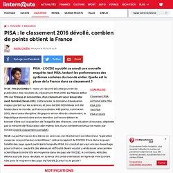 PISA:le classement 2016dévoilé, combien de points obtient la France