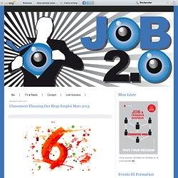 Classement ebuzzing des blogs emploi Mars 2013