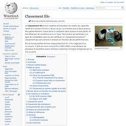 Classement Elo