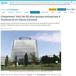 Classement. Voici les 50 plus grosses entreprises à Toulouse et en Haute-Garonne