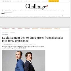 Le classement des 50 entreprises françaises à la plus forte croissance