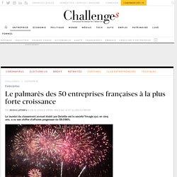Classement : le top 50 des entreprises françaises à la plus forte croissance