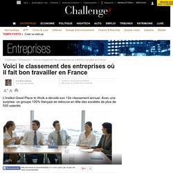 Voici le classement des entreprises où il fait bon travailler en France - 10 juin 2014