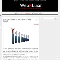 Classement des plus gros blogs luxe en France