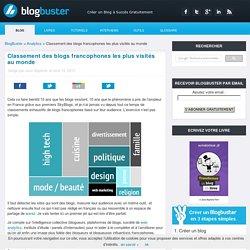 Classement des blogs francophones les plus visités au monde