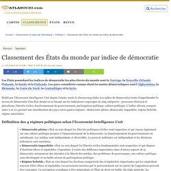 Classement des États du monde par indice de démocratie