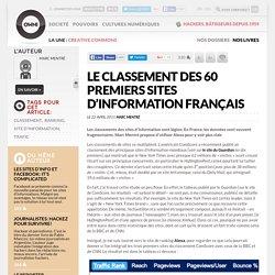 Le classement des 60 premiers sites d'information français