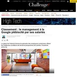 Classement : le management à la Google plébiscité par ses salariés