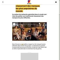 Gucci, Off-White... voici le classement des marques les plus populaires du monde