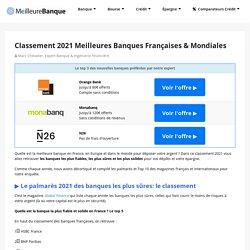 Classement 2020 Meilleures Banques Françaises & Mondiales
