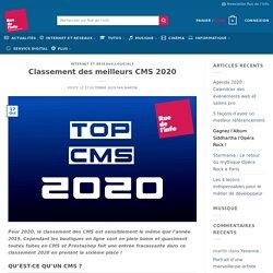 Classement des meilleurs CMS 2020 - Rue de l'info