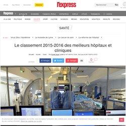 Le classement 2015-2016 des meilleurs hôpitaux et cliniques