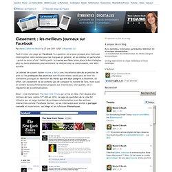 Classement : les meilleurs journaux sur Facebook